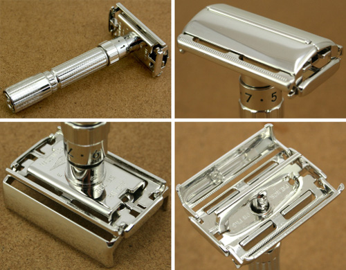 AOM7_Rhodium_Plated_Plating_Gillette_Fatboy_Adjustable_DE_Safety_Razor