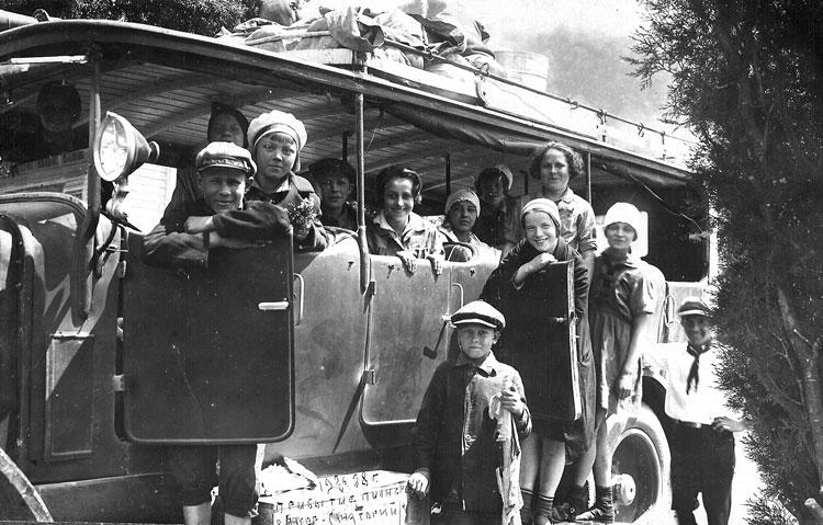 pribytie1928fприезд ребят в Артек 26 мая 1928 года