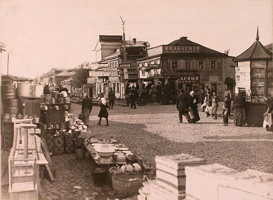 3Местные жители в части Камер-Коллежского вала на Базарной площади