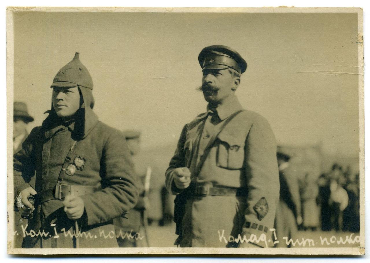 Командир 1-го Читинского стрелкового полка 1-й Заб. стр. див. Гнилосыров и комиссар полка Машин.