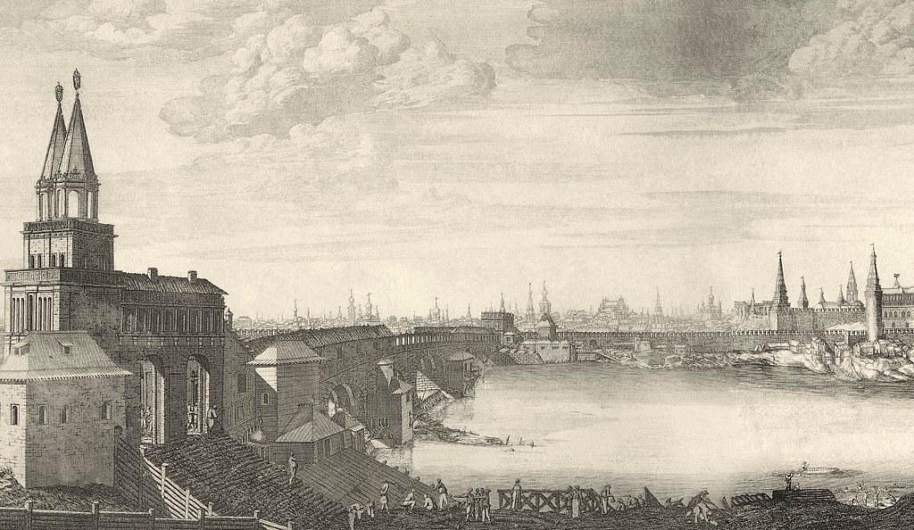 1707-1708. Вид Москвы от Каменного моста. - копия