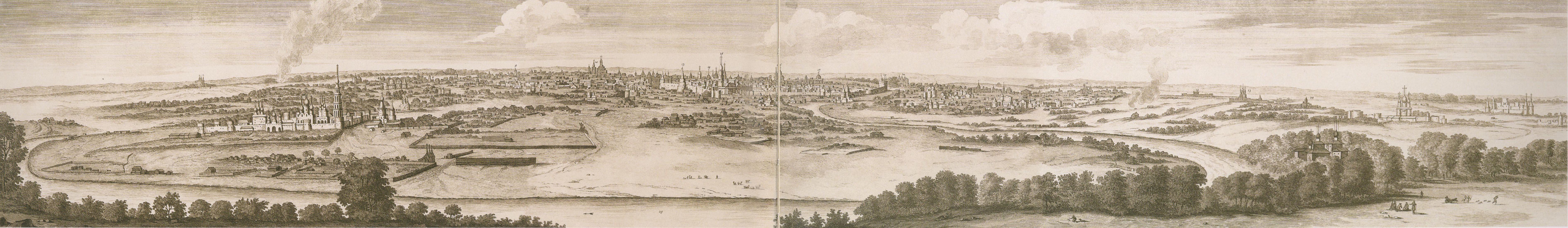 1714. Панорама Москвы с Воробьевых гор