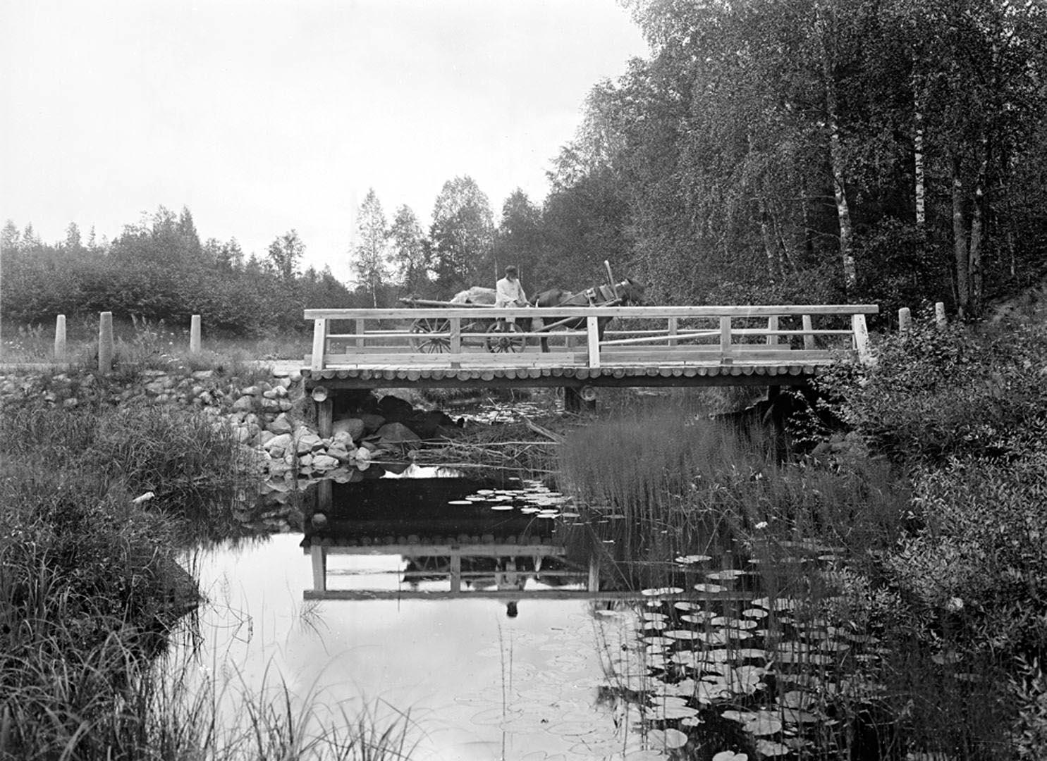 24Общий вид третьего моста через реку Волгу. 1903 г. Тверская губерния.