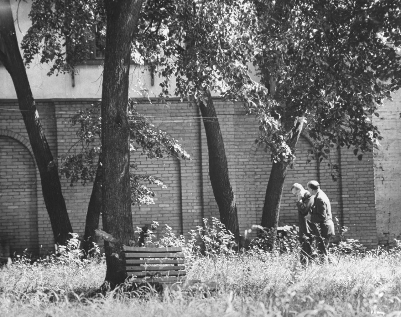 80Гарри Хопкинс и Лоуренс Стейнхардт в саду посольства США.