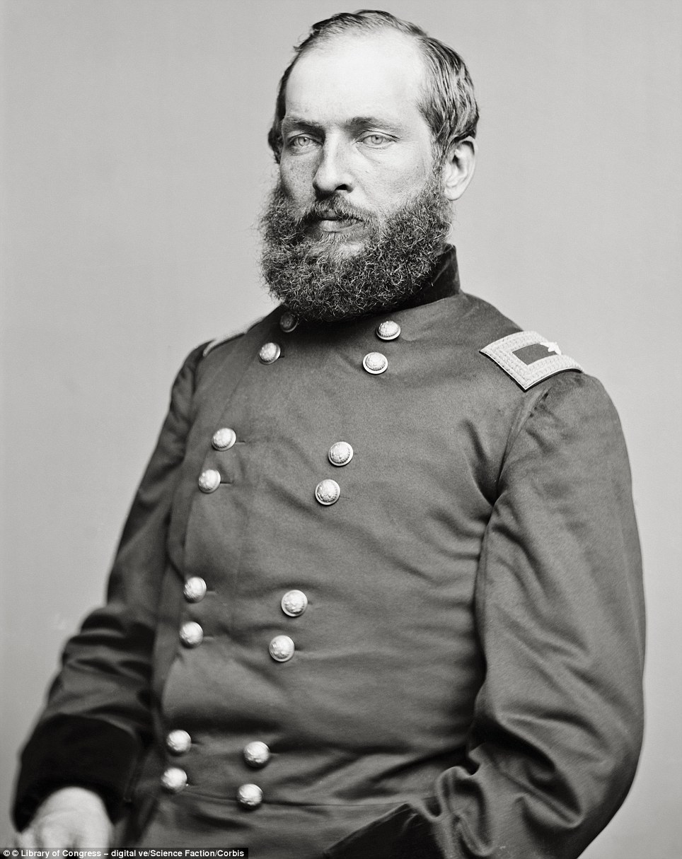 James A. Garfield, who would be the 20th president of the United States, and was assassinated after only six months in office in 1881, as a Union Army general, ca. 1855-1865