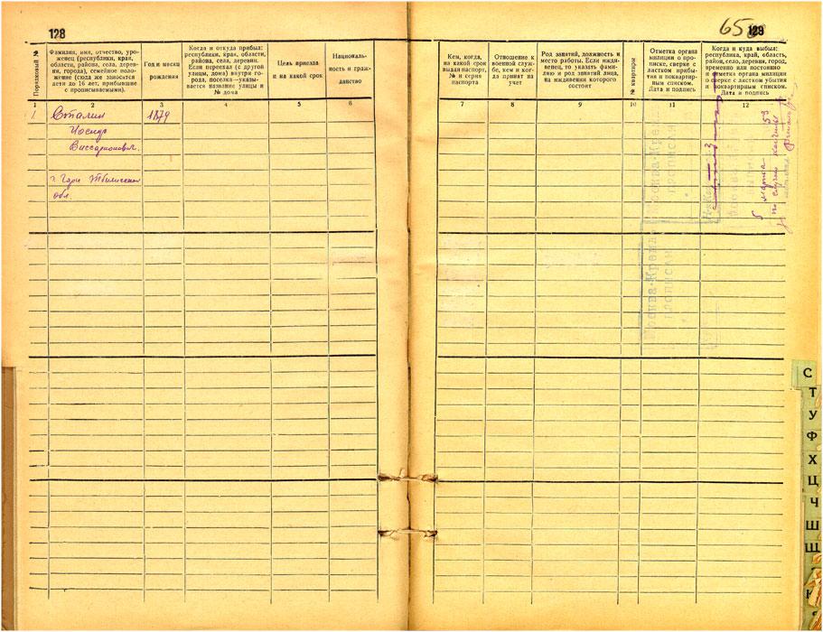 131katСтраница домовой книги Московского Кремля
