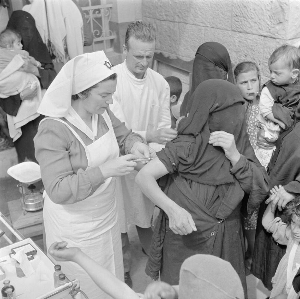 Вакцинация в Израиле, 1948.