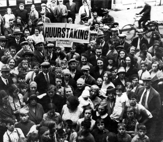 Забастовка в Амстердаме, Нидерланды, 1933.