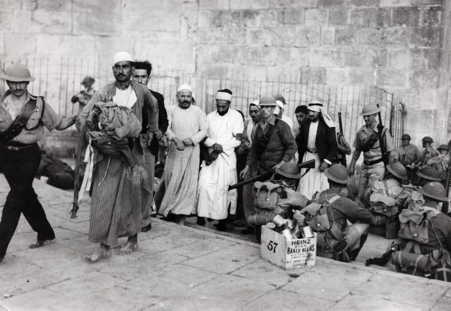Зачистка британских войск в Иерусалиме от арабов, Израиль, 1948.