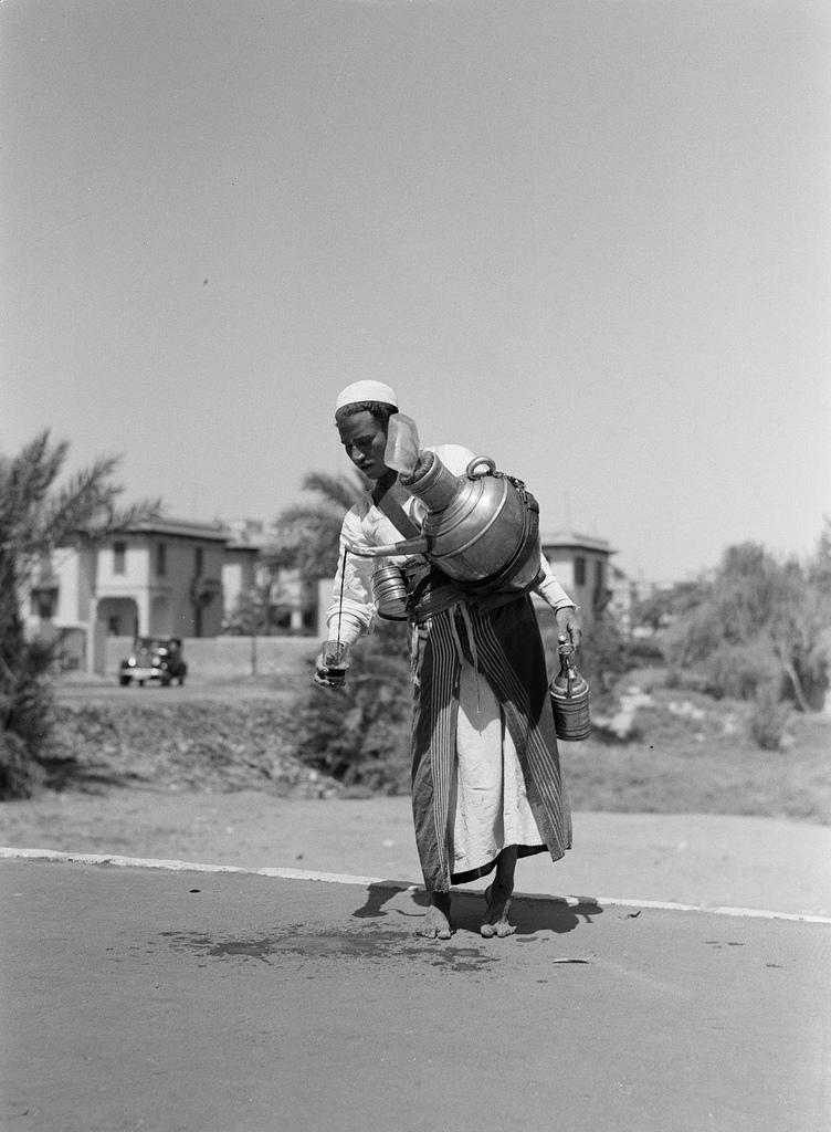 Продавец шербета, Египет, 1935.