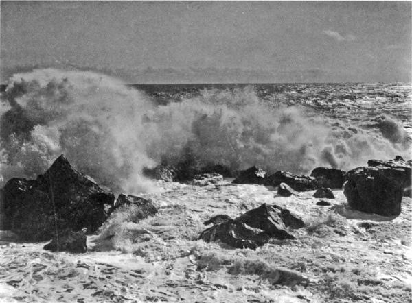 293Прибой в бурю у Рыбачьей пристани в Алупке