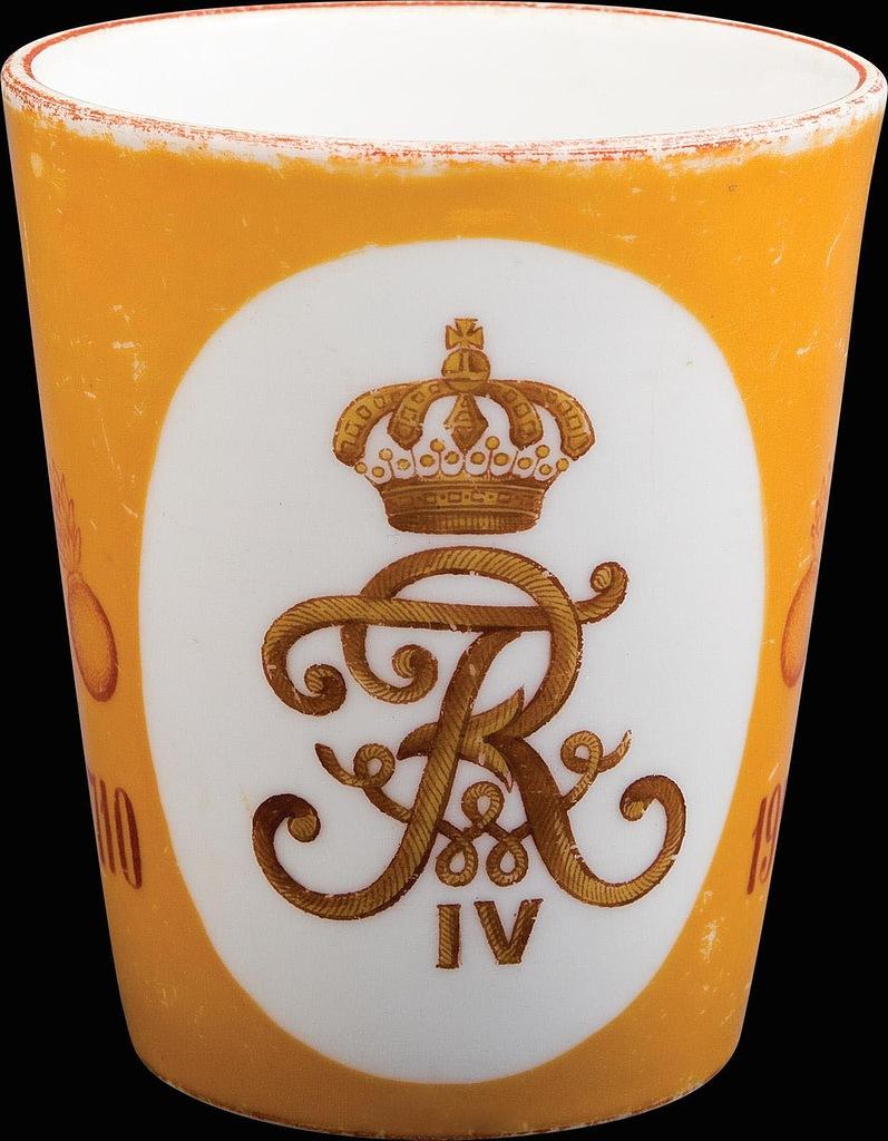 0_97eef_b5bf0d1_XXLСтакан 3-го гренадерского Перновского Короля Фридриха-Вильгельма IV Прусского полка «В память двухсотлетнего юбилея».