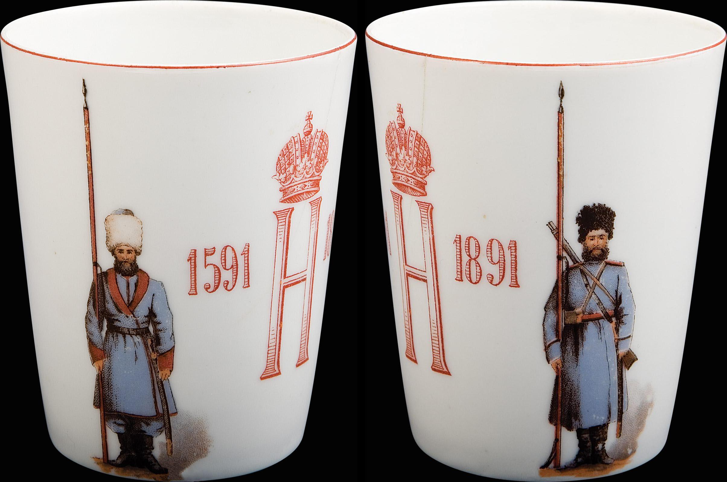 0_97ef5_740a95bd_origСтакан Уральского казачьего войска «В память трехсотлетнего юбилея войска».