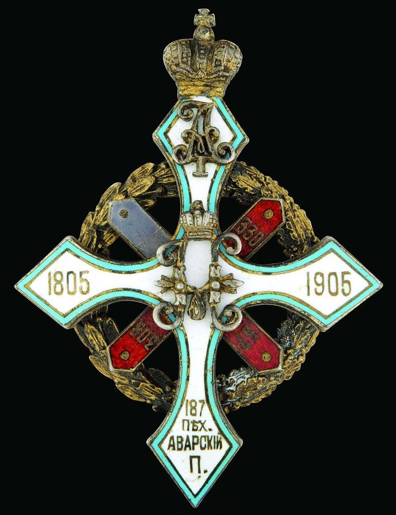0_97d39_2978f8f6_XXLЗнак 187-го пехотного Аварского полка.