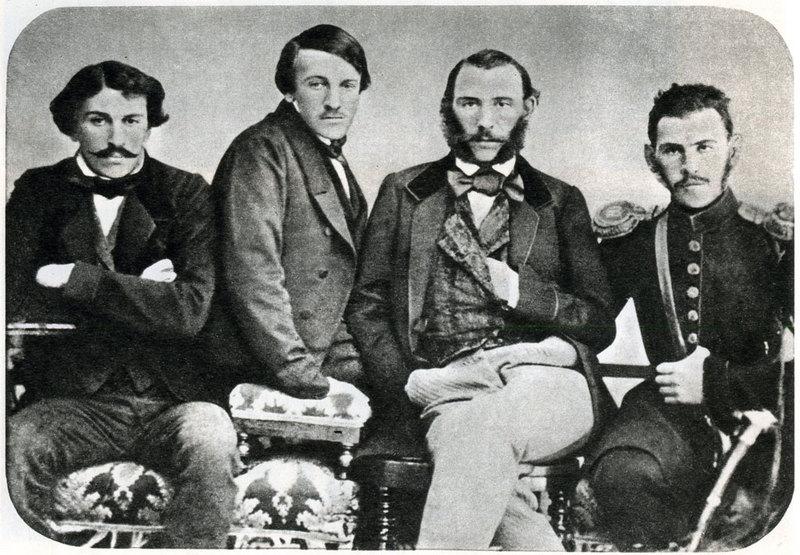 4700624967Братья Толстые - Сергей, Николай, Дмитрий и Лев.