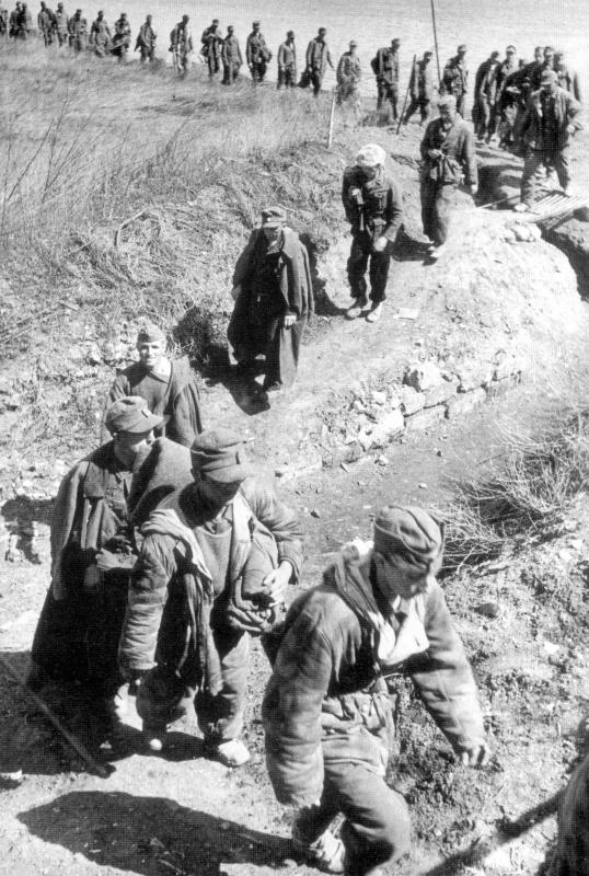 Немецкие военнопленные под Одессой.