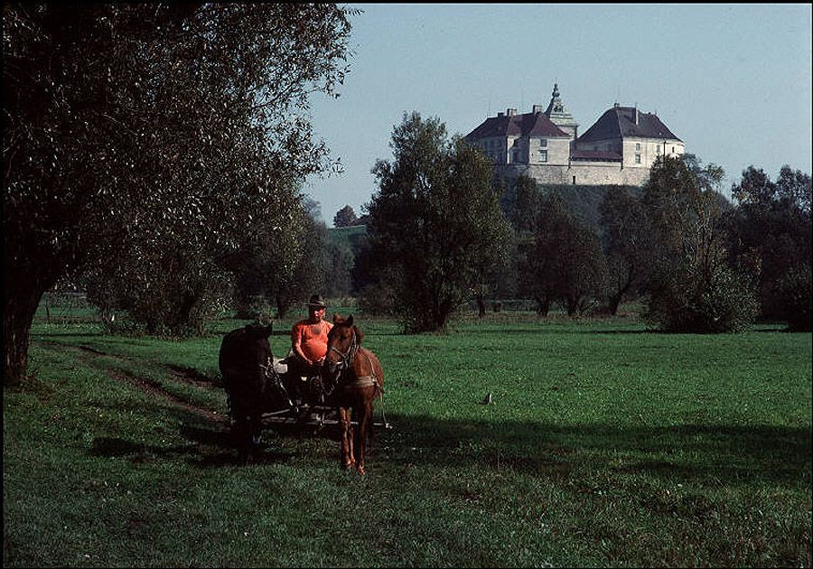 UAof80s23Восточный Львов, Олесский замок, построенный поляками в XIV веке. 1988 год.