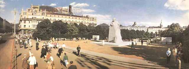 moscow60panorama5Проспект Маркса и памятник Карлу Марксу.
