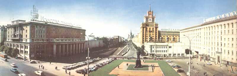 Moscow60-panorama-14Площадь Маяковского и памятник В.В.Маяковскому.