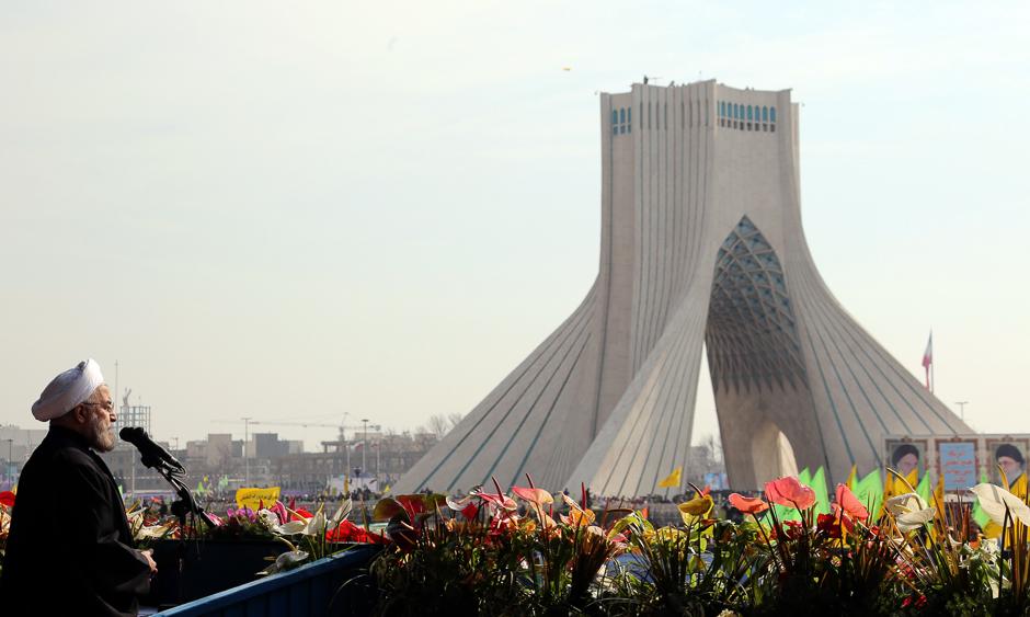 preview_bd6f7f3a7de18656dcce6826d2762e2aПрезидент Ирана Хасан Рухани на торжественных мероприятиях, посвященных 35-летию Исламской революции, 11 февраля 2014 года