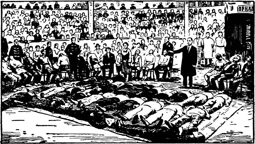 Орнальдо - сеанс массового гипноза - цирк Баку - 1929 72dpi