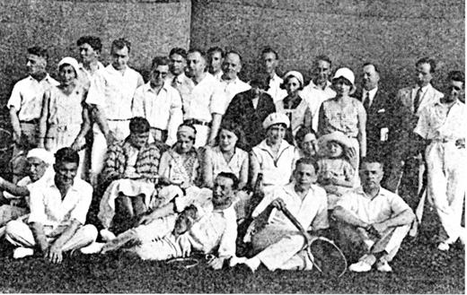 112Члены Русского лаун-теннис клуба в Шанхае (1930)