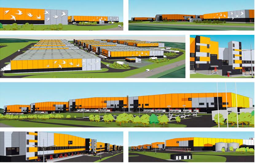 Архитекторы разработали проект совершенно другого склада — яркого, цветного, утопающего в зелени, склада на фасадах которого появится рисунок летящих ласточек.
