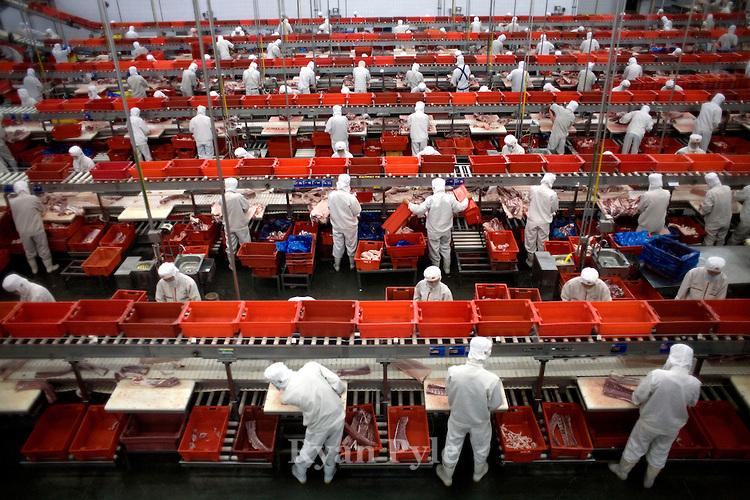Мясные заводы Северной Америки прекратили работу из-за COVID-19