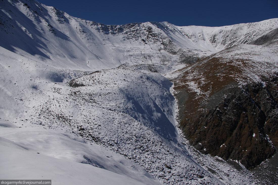 тропа Кара-Тюрек туризм Белуха сентябрь фото снег Катунский хребет перевал путь морена