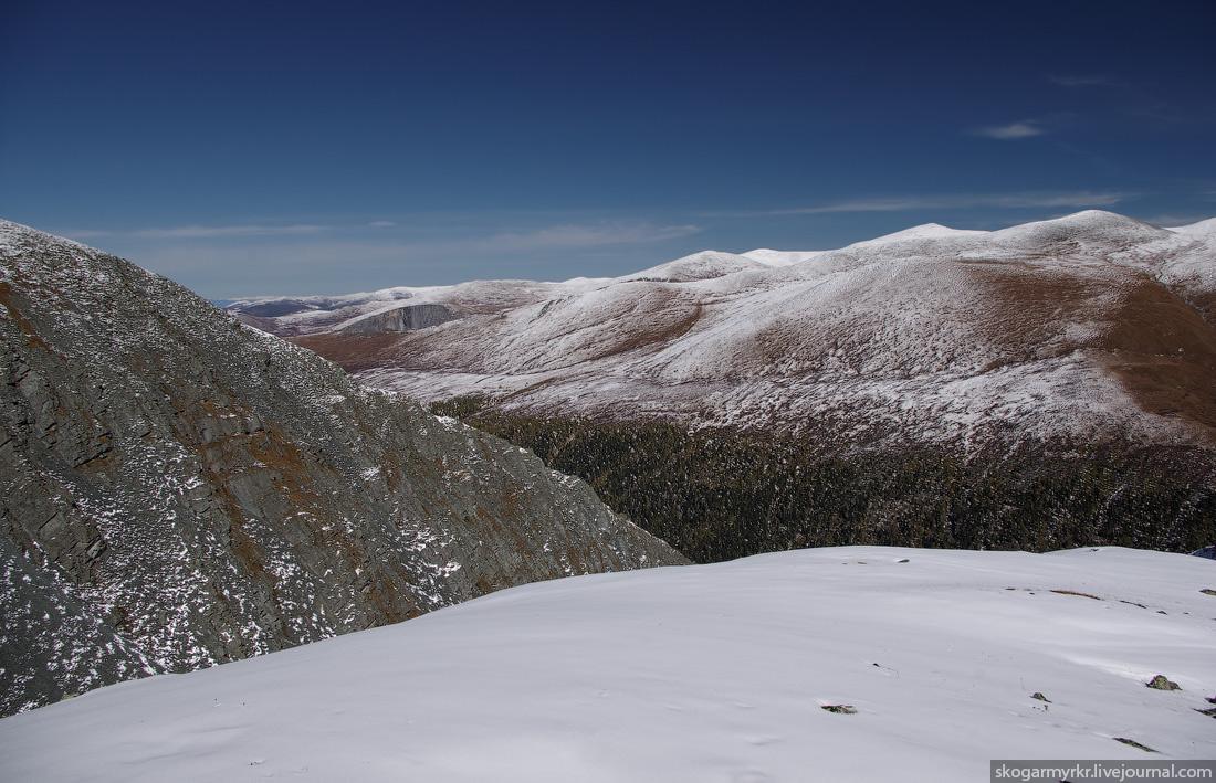 долина река Аккем озеро Катунь Белуха Кара-Тюрек снег сентябрь фото
