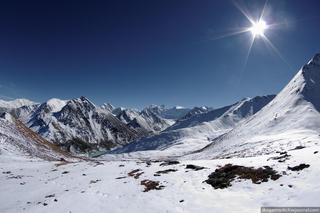Белуха фото снег сентябрь Кара-Тюрек фото поход туризм перевал Аккемское озеро аккем