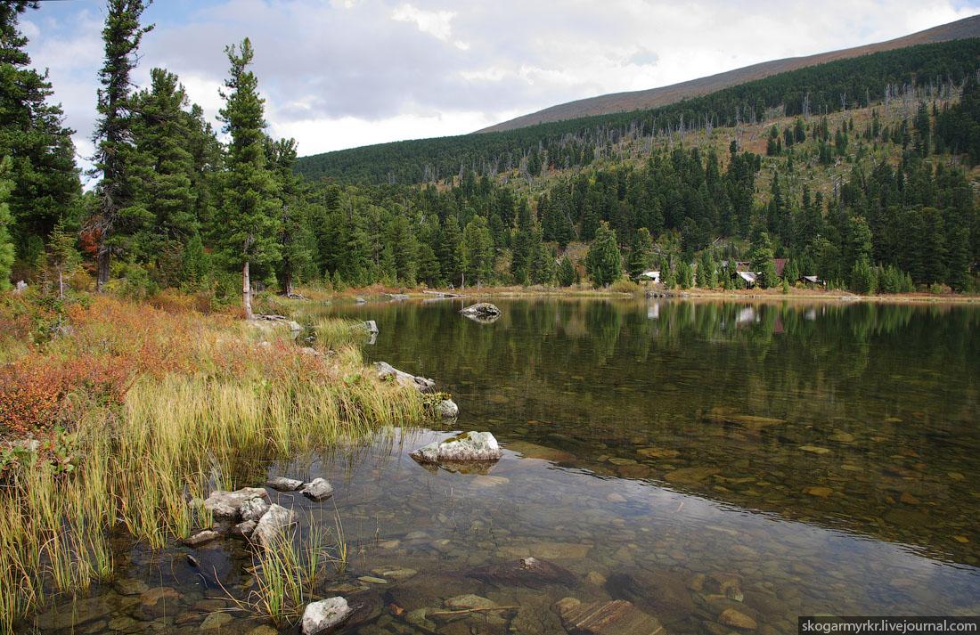 конец пятого Каракольского озера турбаза Алтай фото