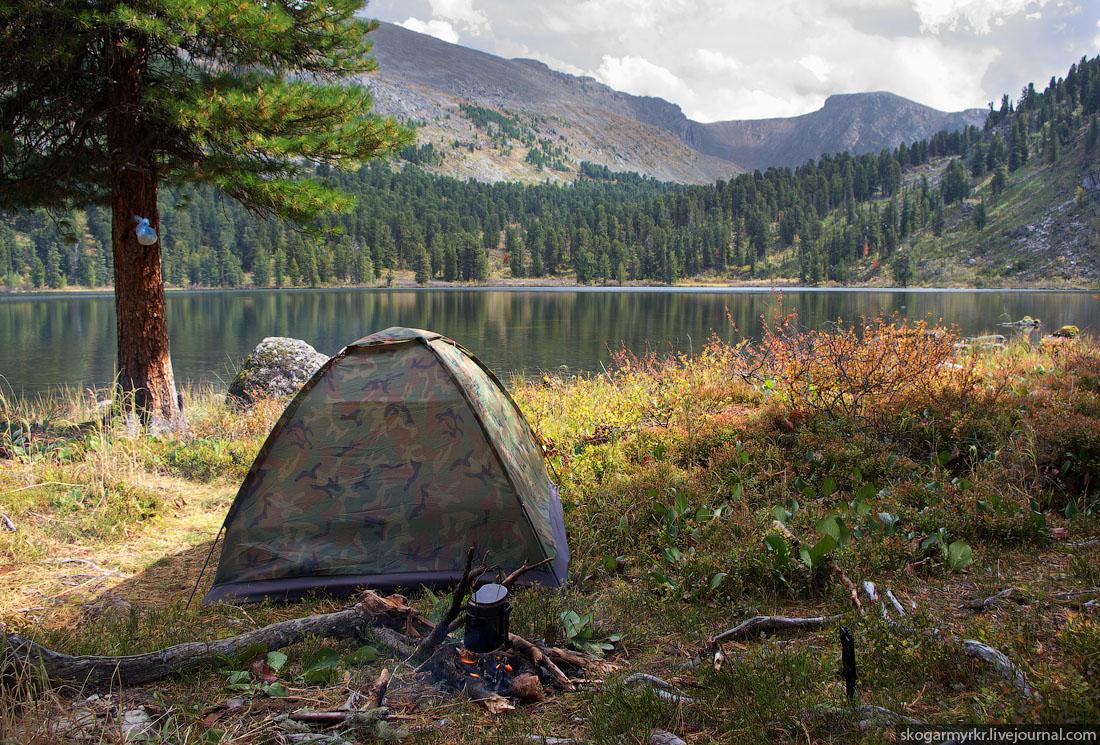 отдых с палаткой на Каракольских озёрах Алтай фото