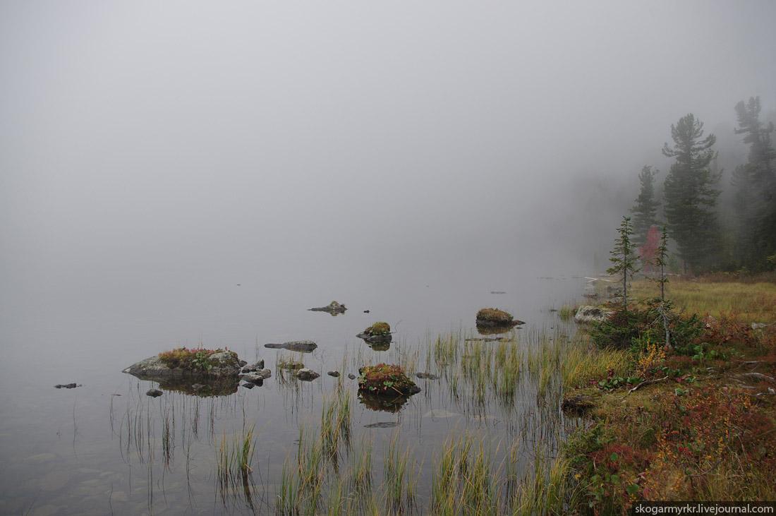 утренний туман над Каракольскими озёрами, Горный Алтай фото