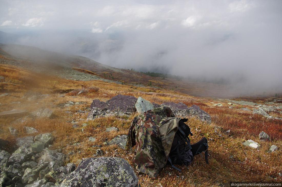 рюкзак на перевале Багаташ, Каракольские озёра, Горный Алтай фото