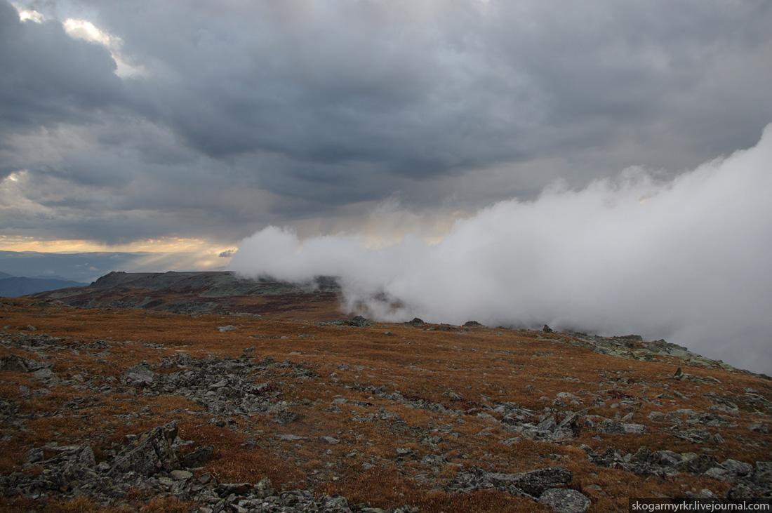 туча на перевале Багаташ со стороны Чемала, осенний Горный Алтай фото