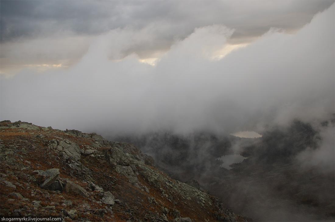 долина Каракольских озёр с перевала Багаташ, Горный Алтай фото
