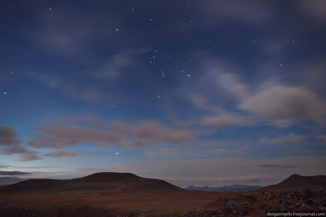 рассвет в горах на плато перевала Багаташ ночное фото, Горный Алтай фото