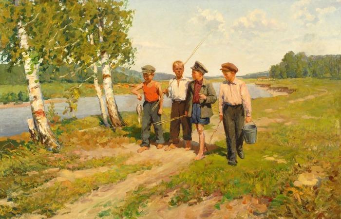 Юные рыболовы