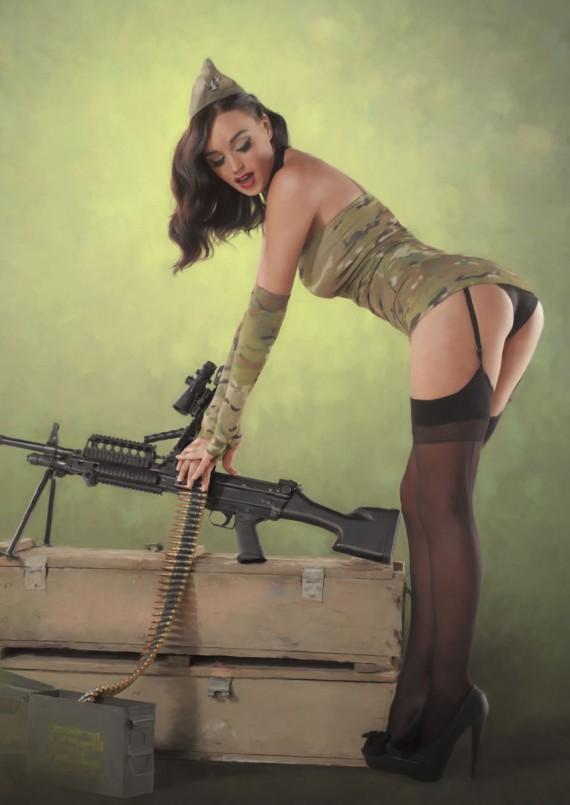 Девушки в военной форме сексуальные