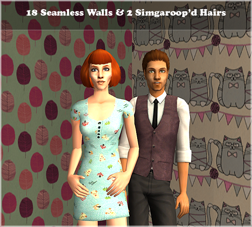18 Seamless Walls & 2 Simgaroop'd Hairs