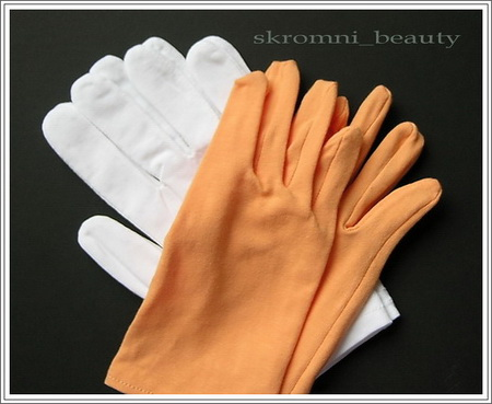 Косметические перчатки для рук своими руками