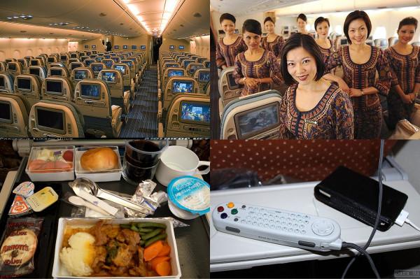 Коллаж самолета в Сингапур