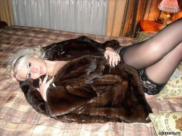 эротические фото блондинок в шубах