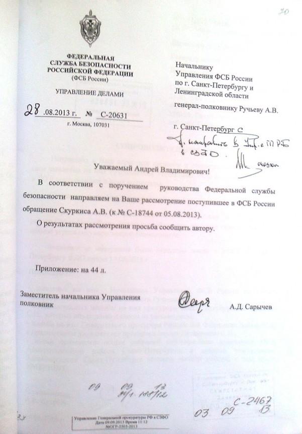 Поручения руководства ФСБ России