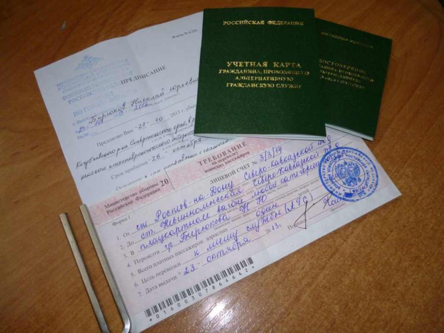 Полный пакет документов который вам должен выдать военкомат