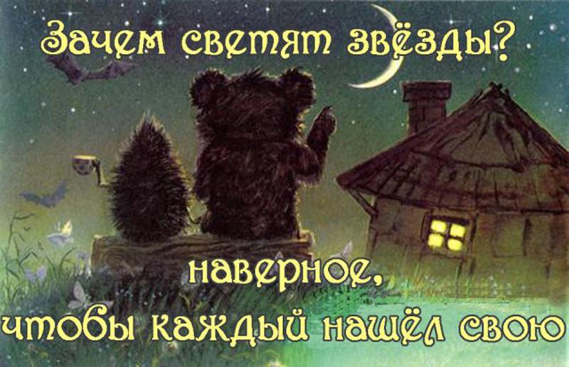 ежик и медвежонок считали звезды картинки самую