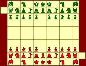 Шахматы Тамерлана: женская расстановка
