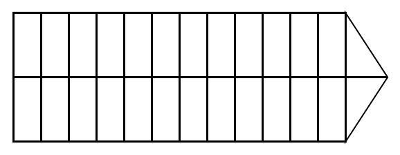 Схема поля неизвестной игры с парусника
