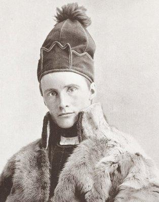 Шведский саам-кочевник Carl Eric в традиционном колпаке, 1893 г.